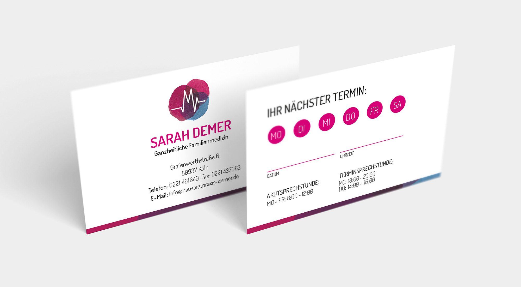 """Geschäftsausstattung """"Sarah Demer"""" 5"""