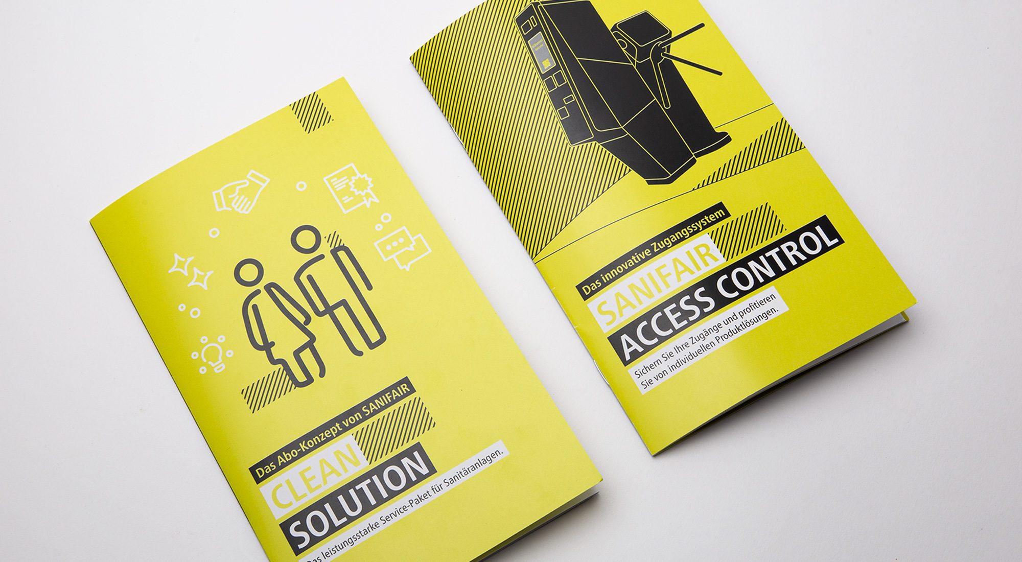 """Broschüren und Messewände """"Clean Solution"""" 1"""
