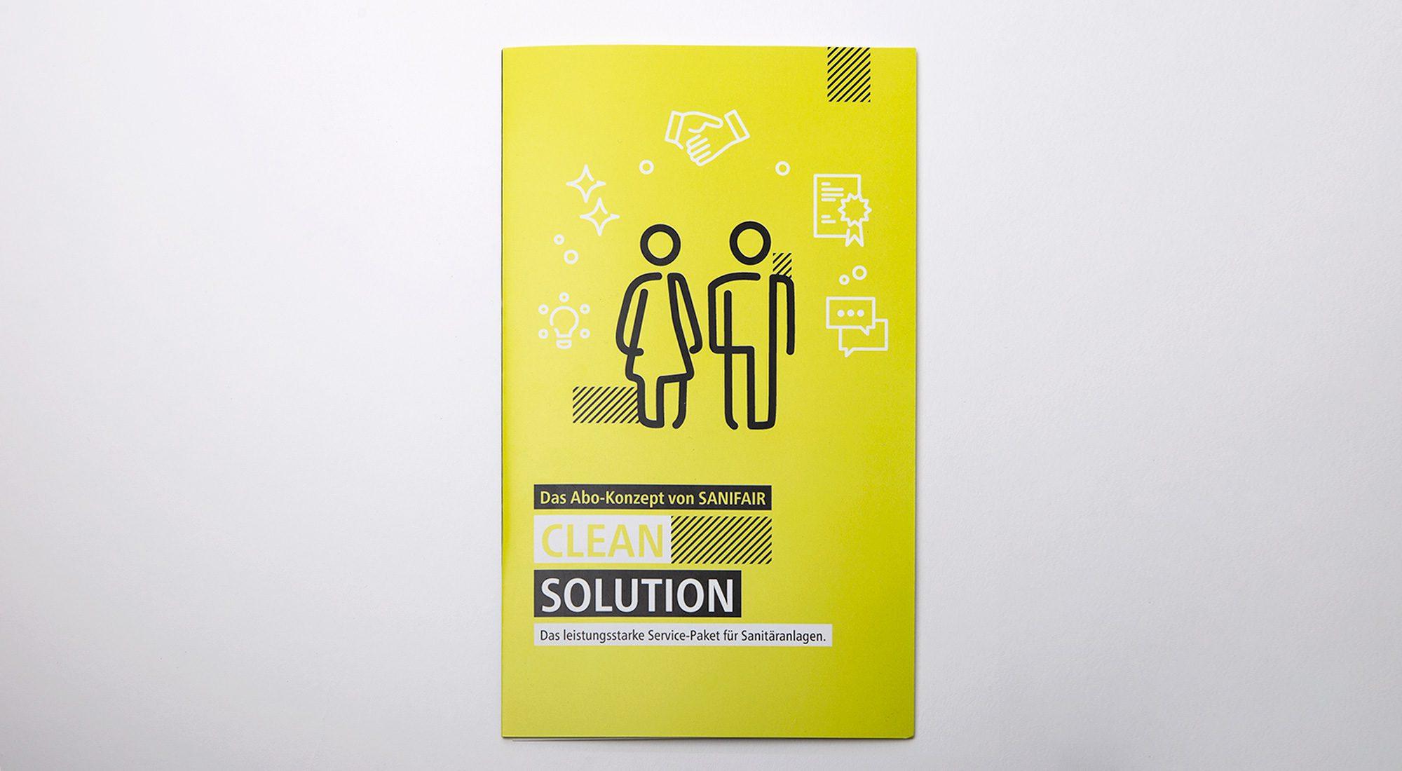 """Broschüren und Messewände """"Clean Solution"""" 11"""